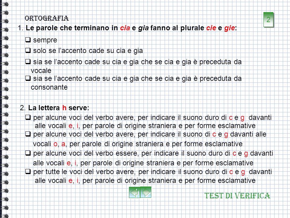 Test di verifica ortografia 1. Lortografia è la parte della grammatica che insegna a: dalla non corrispondenza tra i grafemi e i suoni della lingua e