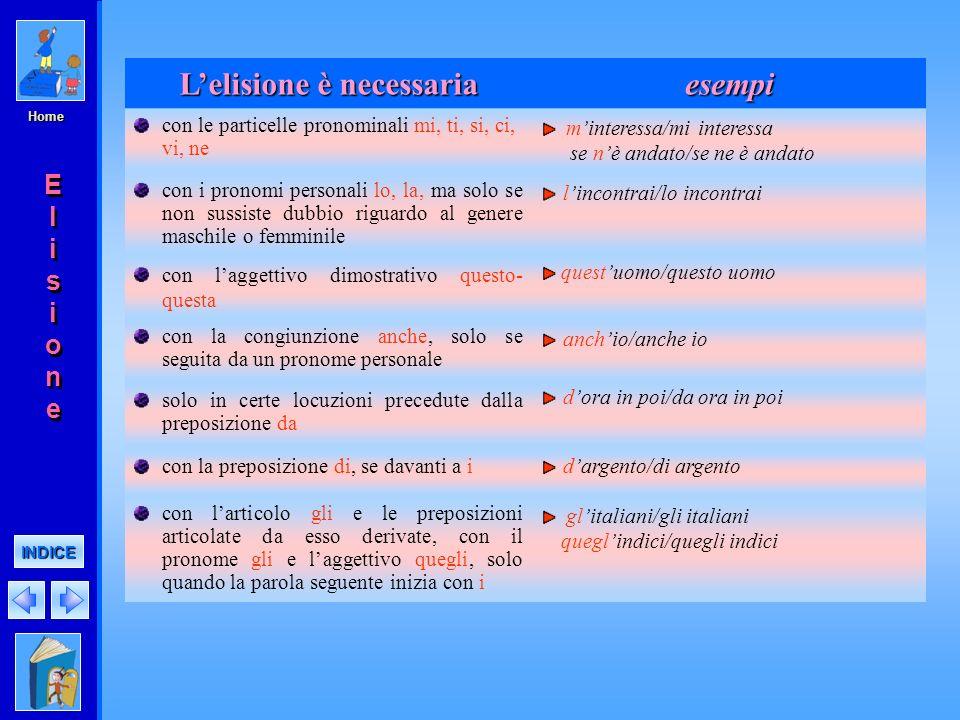 Home Lelisione è obbligatoria esempi con gli articoli singolari lo, la e con le preposizioni articolate formate da lo, la larco, lalunno, laltalena de