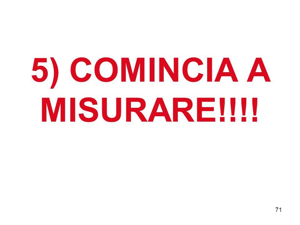 71 5) COMINCIA A MISURARE!!!!