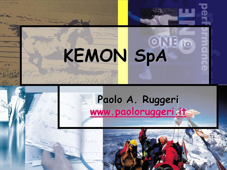 1 KEMON SpA Paolo A. Ruggeri www.paoloruggeri.it