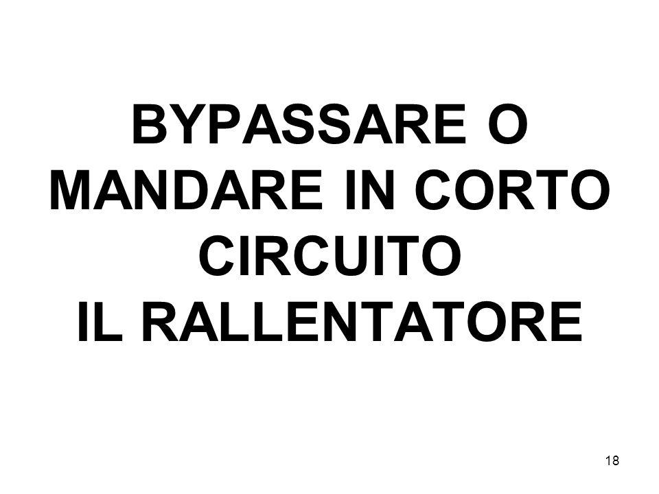 18 BYPASSARE O MANDARE IN CORTO CIRCUITO IL RALLENTATORE