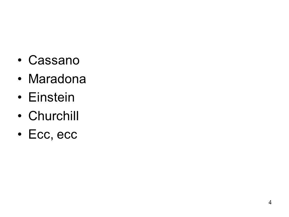 4 Cassano Maradona Einstein Churchill Ecc, ecc