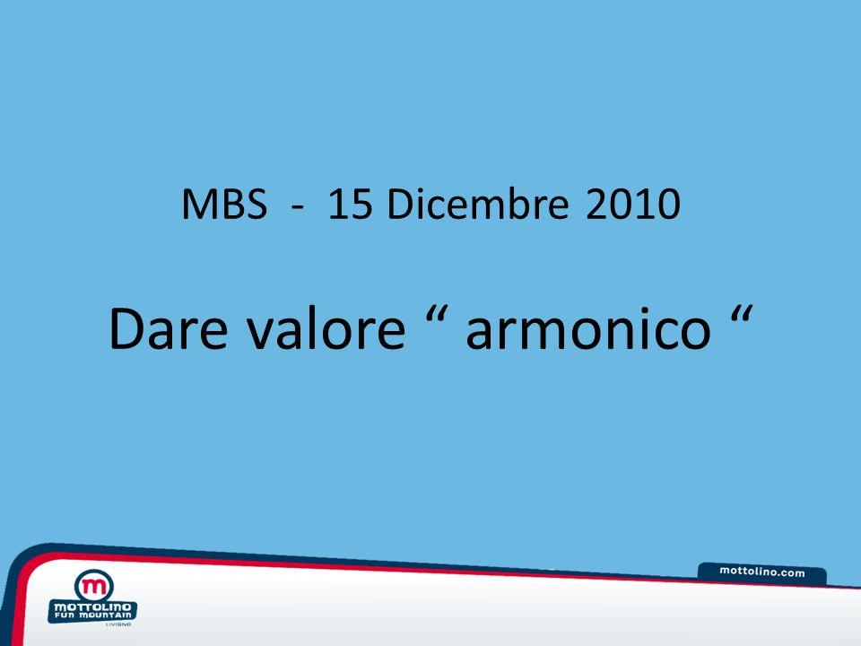 MBS - 15 Dicembre 2010 Dare valore armonico