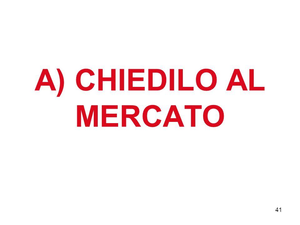 41 A) CHIEDILO AL MERCATO