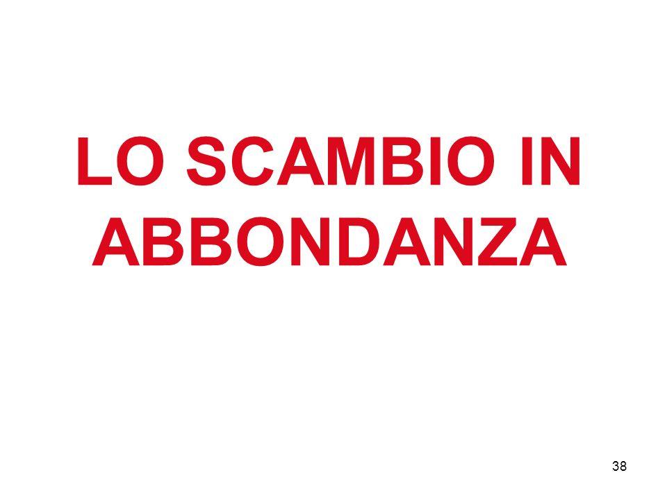 38 LO SCAMBIO IN ABBONDANZA