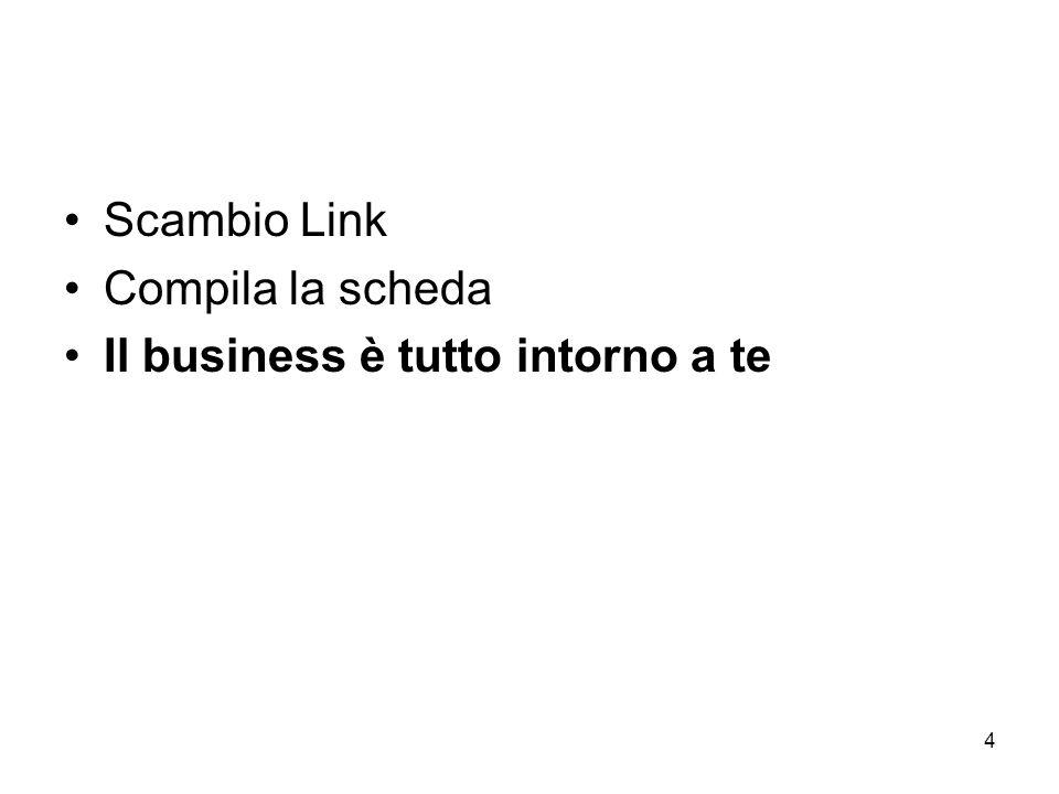 4 Scambio Link Compila la scheda Il business è tutto intorno a te