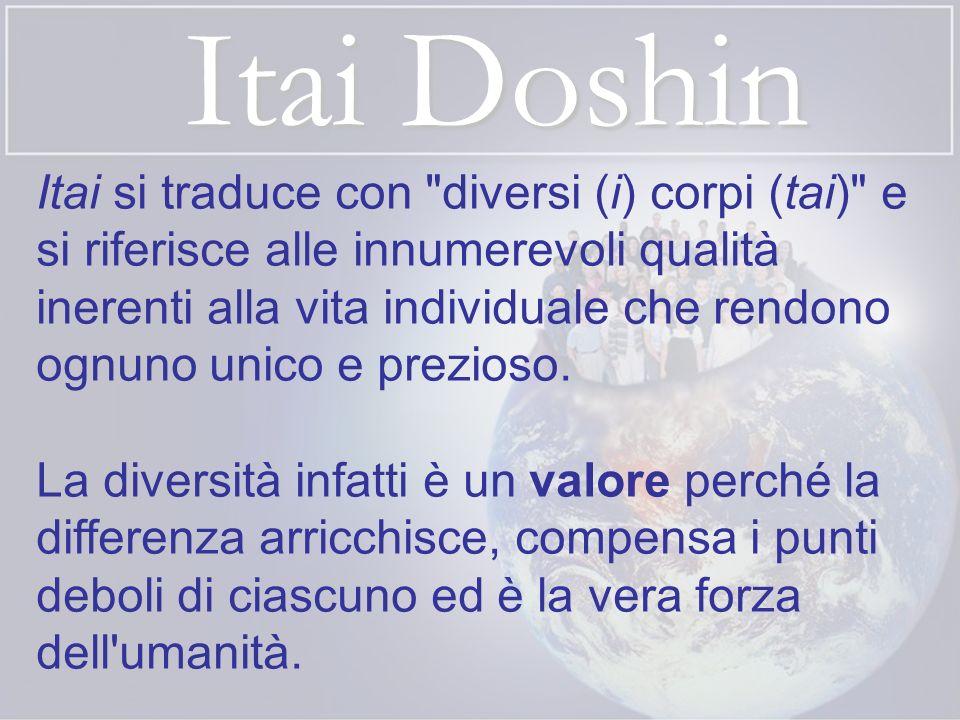 Itai Doshin Doshin si traduce con stessa (do) mente o spirito (shin) e indica l unità di intenti.