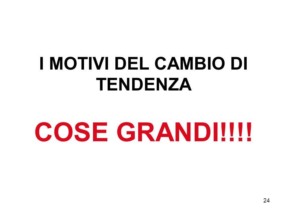 24 I MOTIVI DEL CAMBIO DI TENDENZA COSE GRANDI!!!!