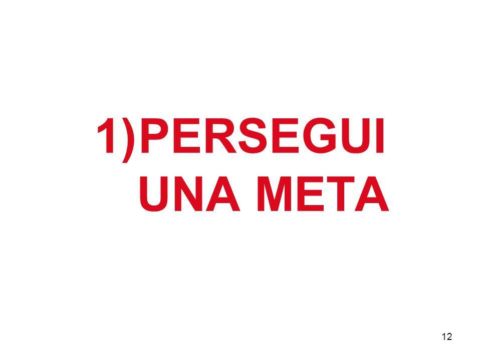 12 1)PERSEGUI UNA META