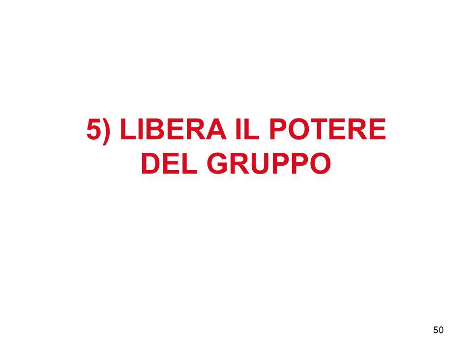 50 5) LIBERA IL POTERE DEL GRUPPO