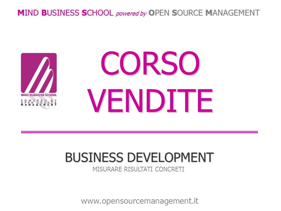 CORSO VENDITE BUSINESS DEVELOPMENT MISURARE RISULTATI CONCRETI MIND BUSINESS SCHOOL powered by OPEN SOURCE MANAGEMENT www.opensourcemanagement.it