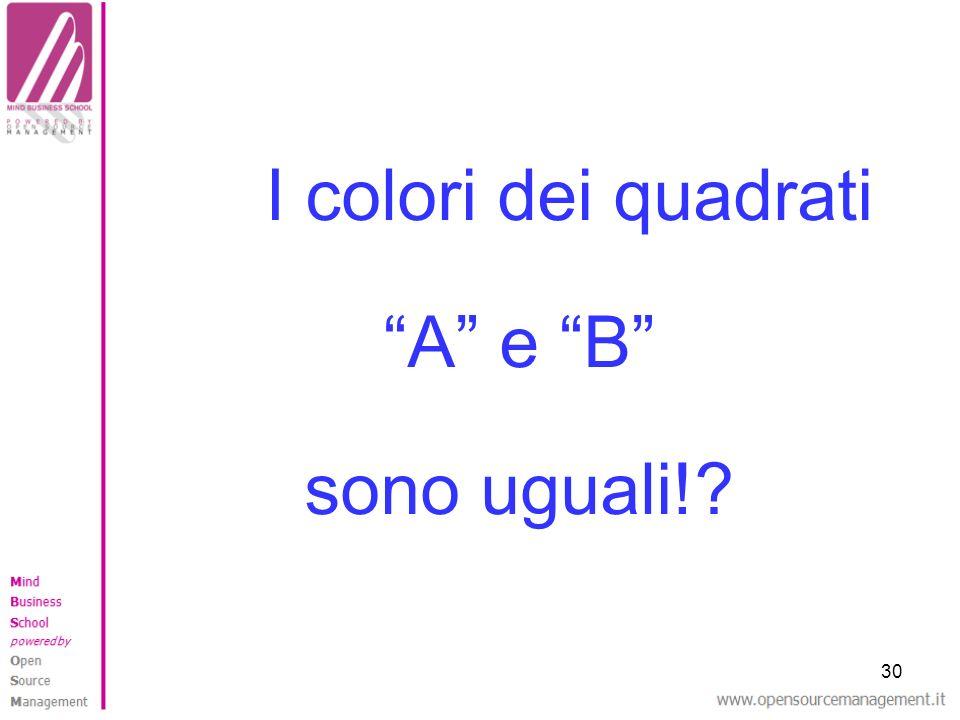 30 I colori dei quadrati A e B sono uguali!?