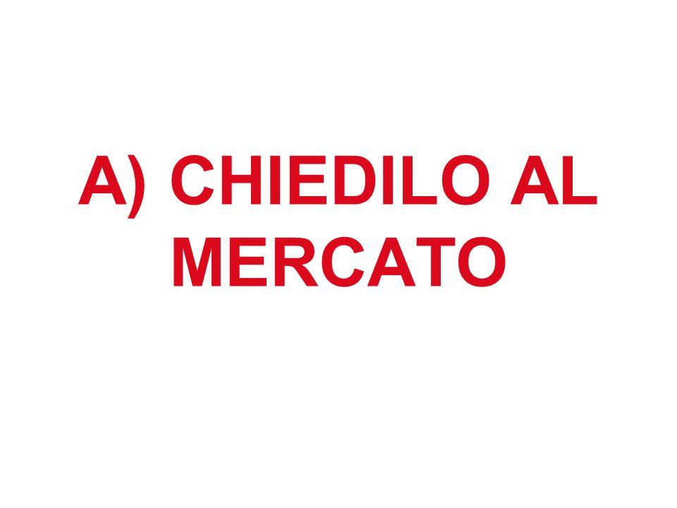 A) CHIEDILO AL MERCATO