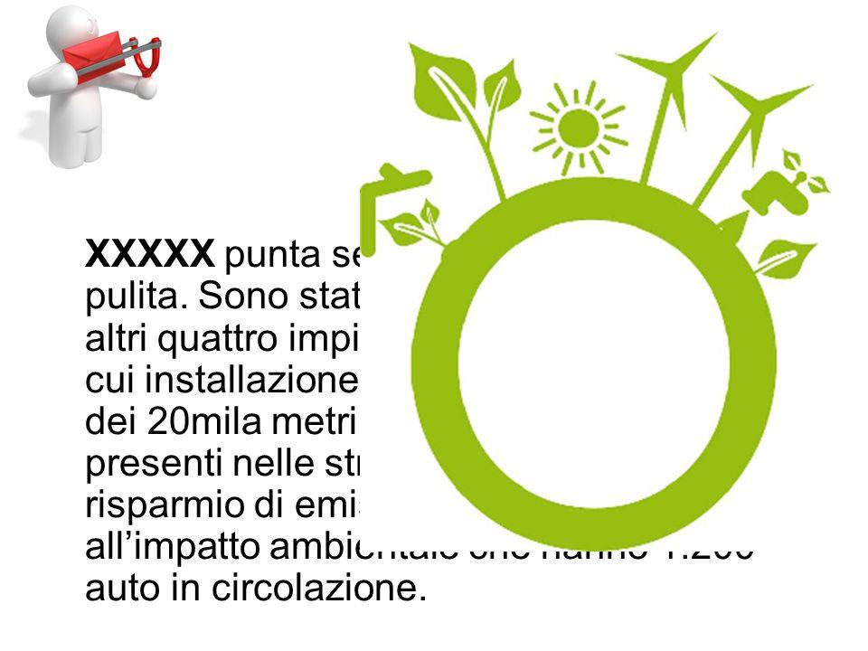 XXXXX punta sempre più sullenergia pulita.