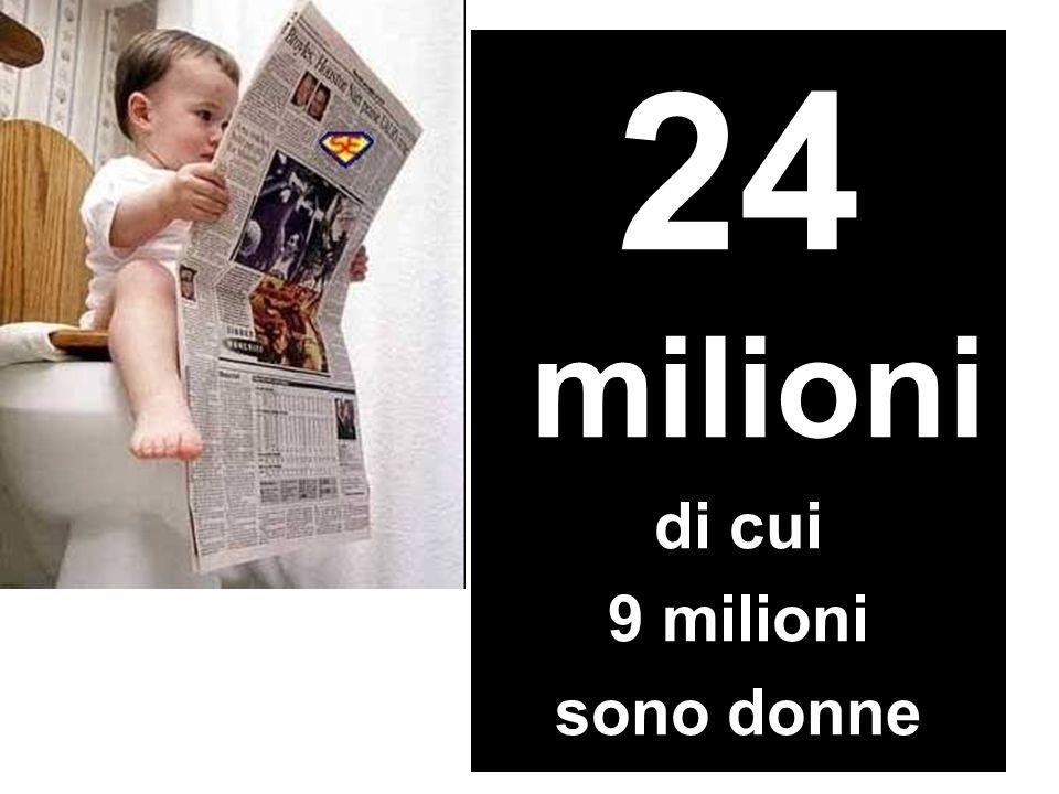 Quanti sono i lettori della carta stampata in Italia 24 milioni di cui 9 milioni sono donne