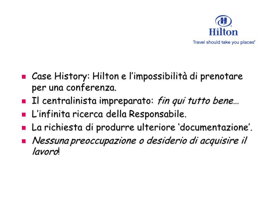 Case History: Hilton e limpossibilità di prenotare per una conferenza.