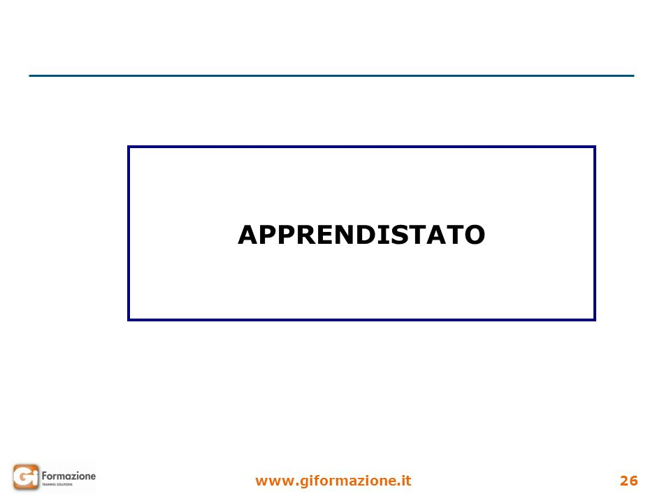 www.giformazione.it26 APPRENDISTATO