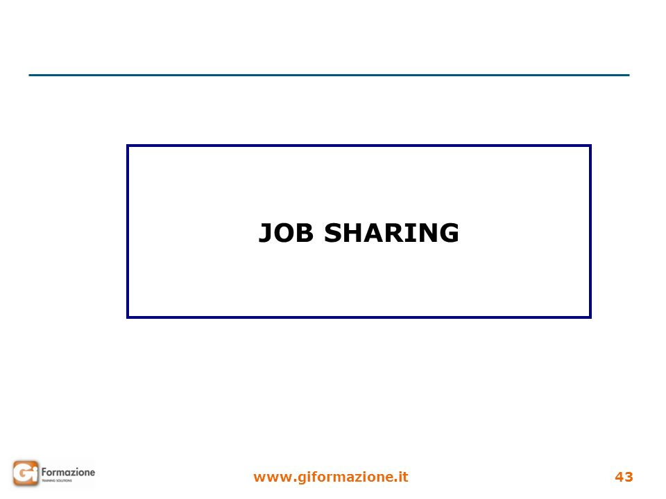 www.giformazione.it43 JOB SHARING