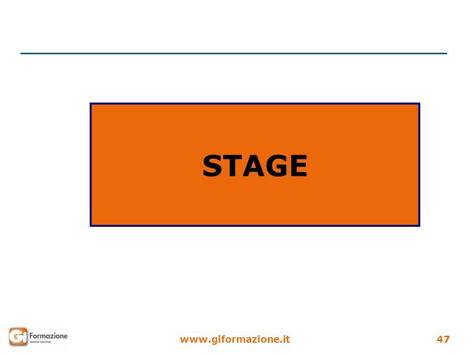 www.giformazione.it47 STAGE