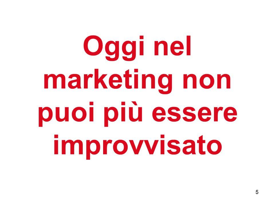 5 Oggi nel marketing non puoi più essere improvvisato