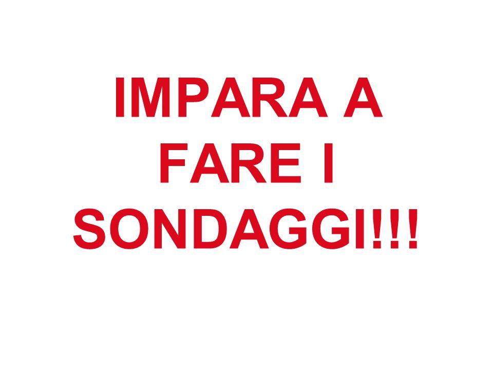 IMPARA A FARE I SONDAGGI!!!