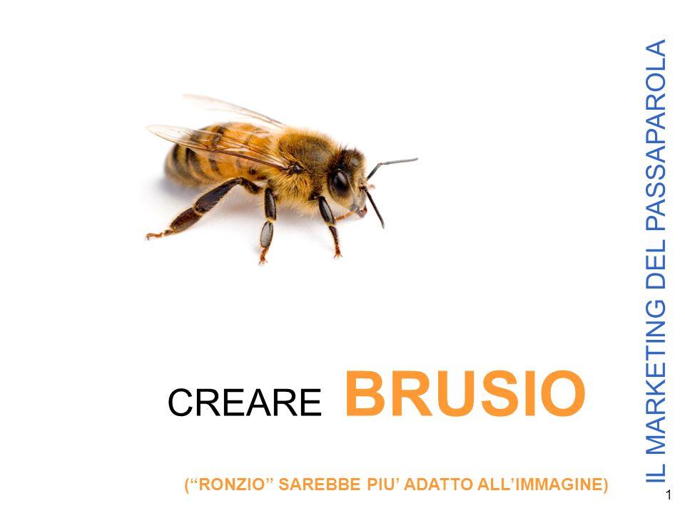1 IL MARKETING DEL PASSAPAROLA CREARE BRUSIO (RONZIO SAREBBE PIU ADATTO ALLIMMAGINE)