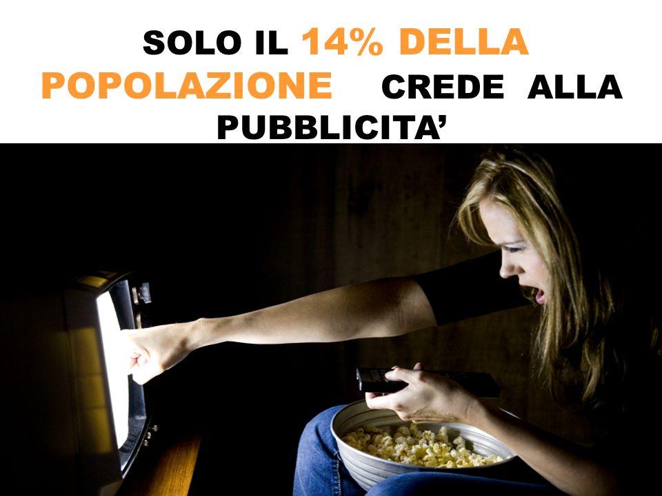 7 SOLO IL 14% DELLA POPOLAZIONE CREDE ALLA PUBBLICITA