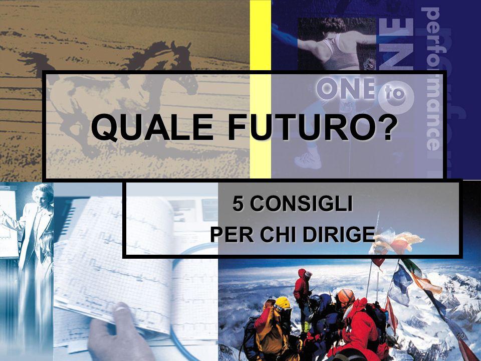 40 QUALE FUTURO 5 CONSIGLI PER CHI DIRIGE