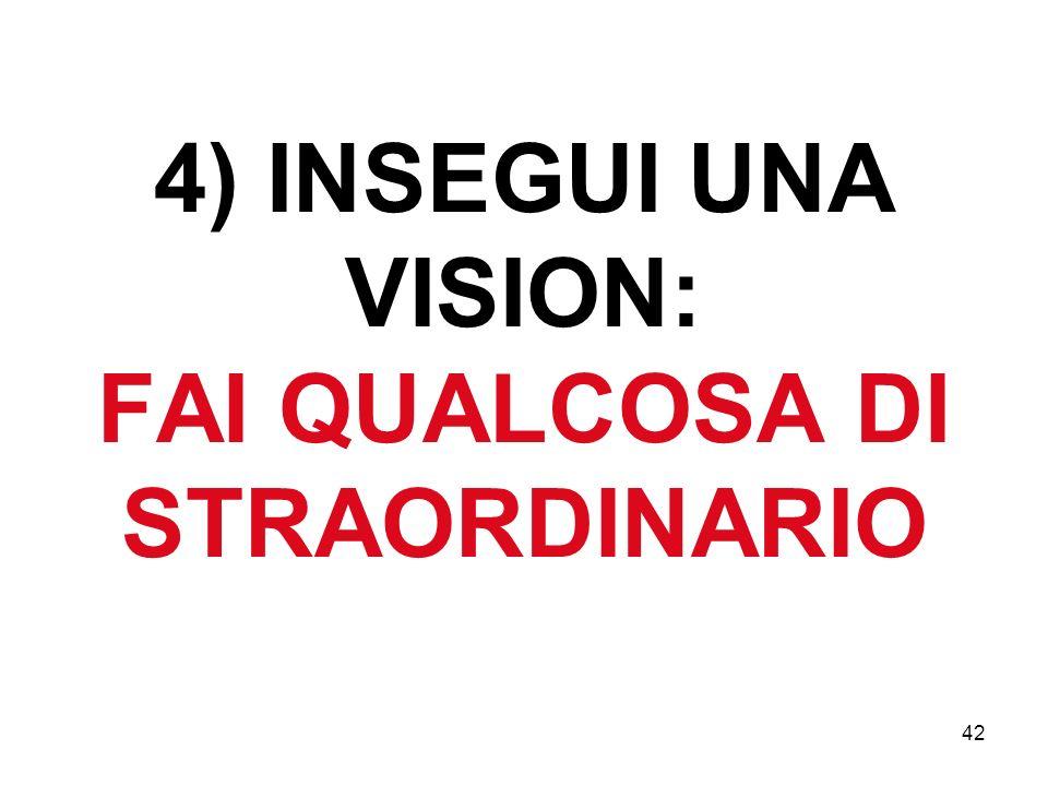 42 4) INSEGUI UNA VISION: FAI QUALCOSA DI STRAORDINARIO