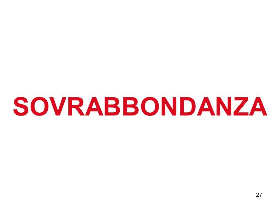 27 SOVRABBONDANZA