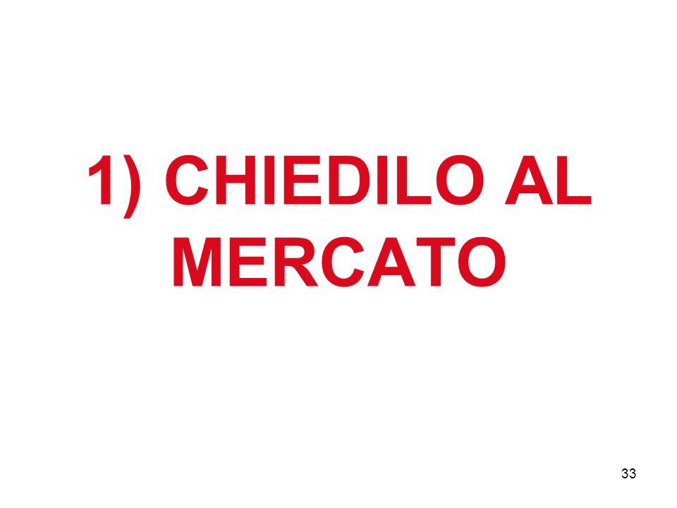 33 1) CHIEDILO AL MERCATO