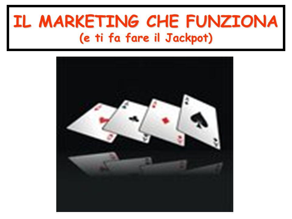 Il marketing che funziona Abbraccia lo studio dei prodotti e dei mercati Abbraccia lo studio dei prodotti e dei mercati Chi compra cosa dove con quale frequenza Chi compra cosa dove con quale frequenza