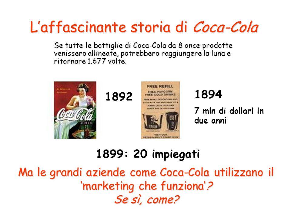 Laffascinante storia di Coca-Cola Se tutte le bottiglie di Coca-Cola da 8 once prodotte venissero allineate, potrebbero raggiungere la luna e ritornare 1.677 volte.