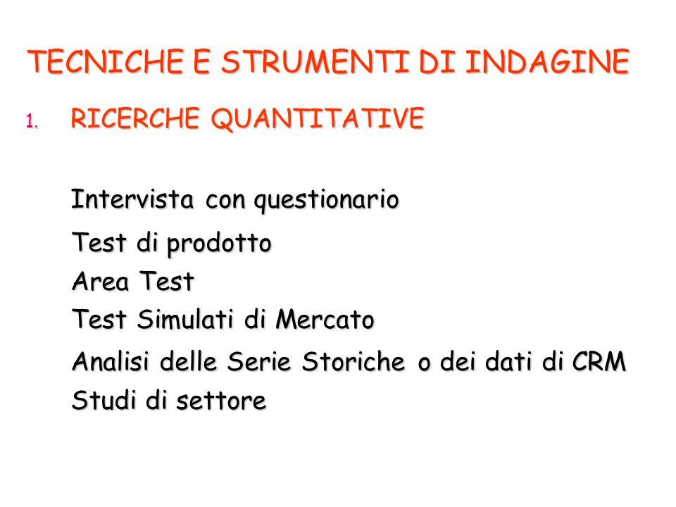 TECNICHE E STRUMENTI DI INDAGINE 1.