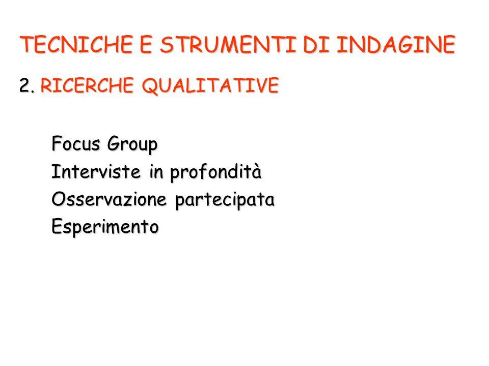 TECNICHE E STRUMENTI DI INDAGINE 2.