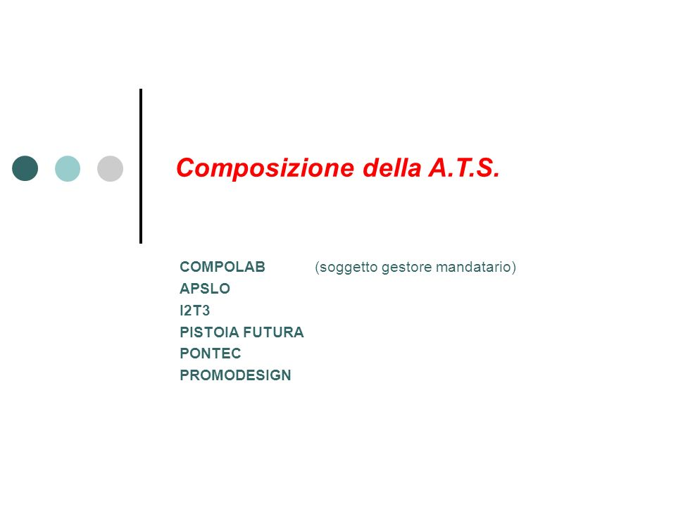 Composizione della A.T.S.