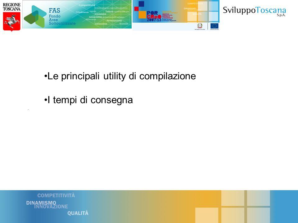 . Le principali utility di compilazione I tempi di consegna