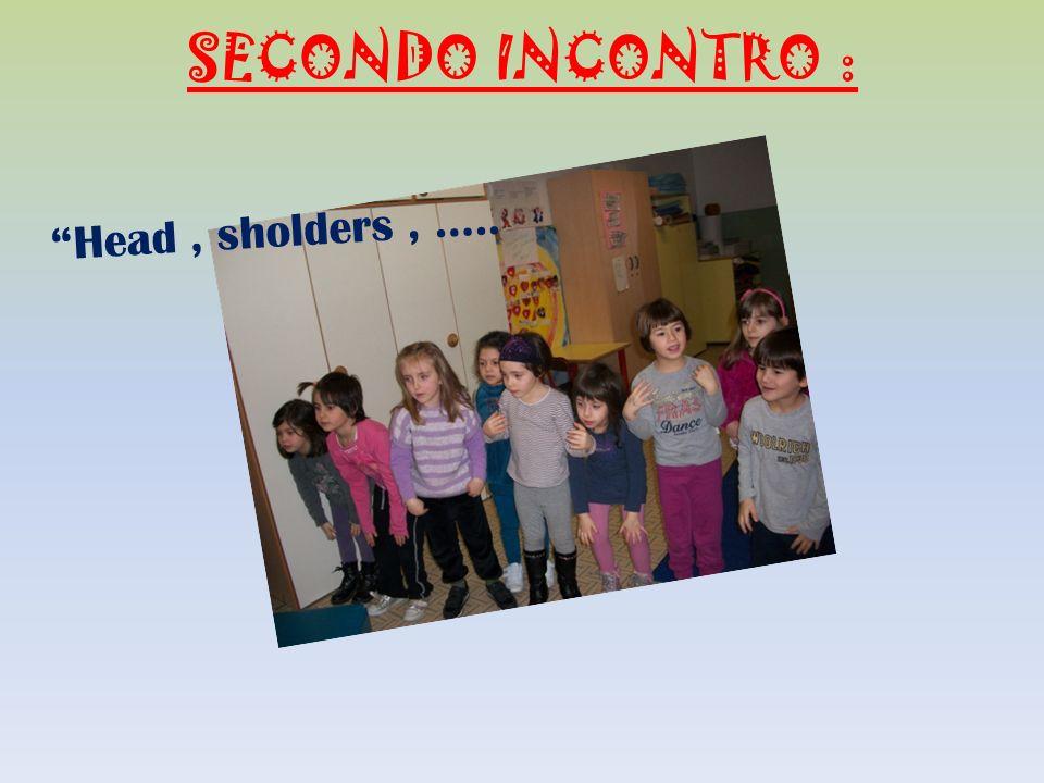 SECONDO INCONTRO : Head, sholders, …..