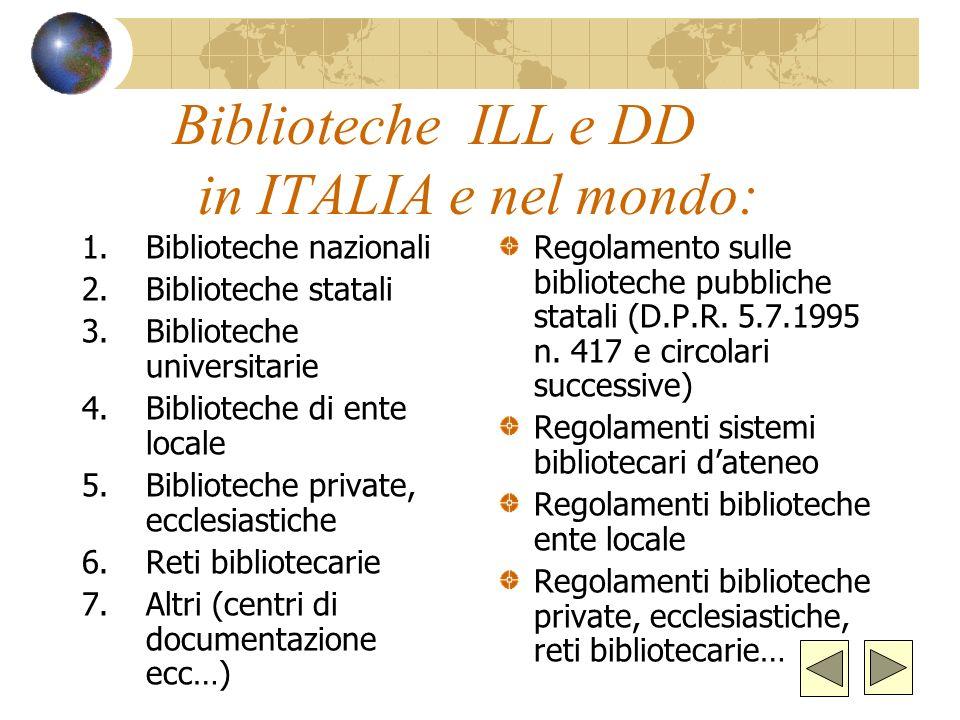 Responsabilità La biblioteca ricevente è responsabile della buona conservazione dei documenti ricevuti La biblioteca ricevente è responsabile della te