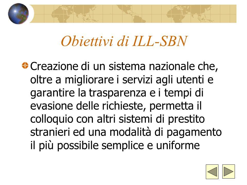 Cosè ILL-SBN?ILL-SBN È un servizio nazionale di prestito interbibliotecario e fornitura documenti accessibile a tutti su Internet e rivolto ai bibliot
