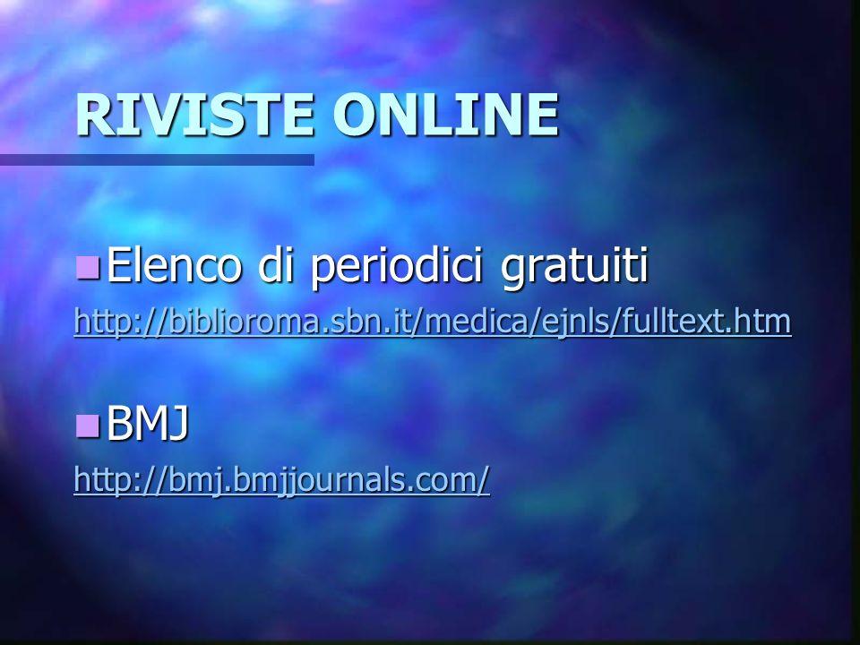 ALTRI SITI Ministero della salute http://www.ministerosalute.it/ Ministero della salute http://www.ministerosalute.it/ http://www.ministerosalute.it/ Ricerche cliniche Ricerche cliniche http://www.clinicalevidence.com http://www.clinicalevidence.comhttp://www.clinicalevidence.com Motore di ricerca scientifico http://www.scirus.com/srsapp/ Motore di ricerca scientifico http://www.scirus.com/srsapp/ http://www.scirus.com/srsapp/