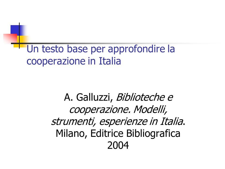 Un testo base per approfondire la cooperazione in Italia A.