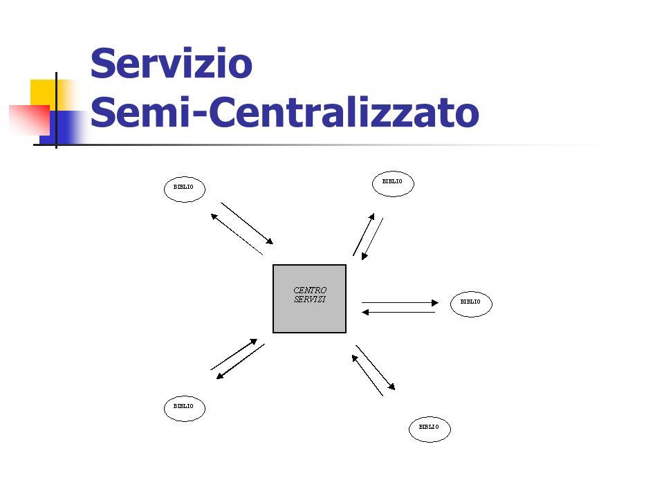 Servizio Semi-Centralizzato