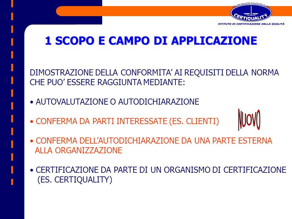 3 TERMINI E DEFINIZIONI ISO 9000: 2000 ISO 14001 : 2004 3.1 AUDITOR Persona che ha la competenza per effettuare un audit 3.3 AZIONE CORRETTIVA Azione tesa ad eliminare la causa di una non conformità rilevata 3.4 DOCUMENTO Informazioni con il loro mezzo di supporto 3.14 AUDIT INTERNO Processo sistematico, indipendente e documentato atto ad ottenere le evidenze di audit e valutarle in maniera oggettiva, per determinare in che misura i criteri di audit del SGA stabiliti dallorganizzazione, siano rispettati 3.15 NON CONFORMITAMancato soddisfacimento di un requisito 3.9.9 3.15 3.7.2 3.9.1 3.6.2