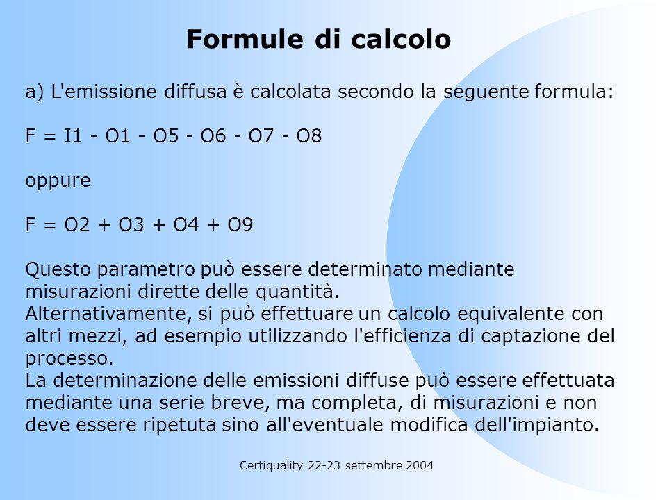 Certiquality 22-23 settembre 2004 Linee guida sull'uso del piano di gestione dei solventi per la verifica di conformità a) Il piano di gestione dei so