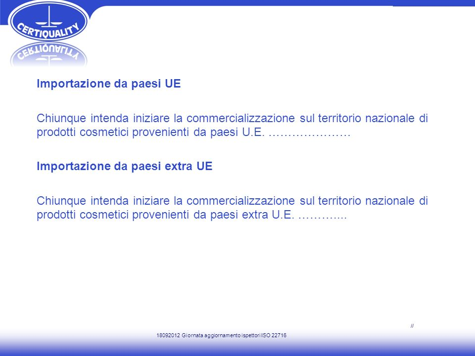 Il PRODUCT INFORMATION FILE – P.I.F.