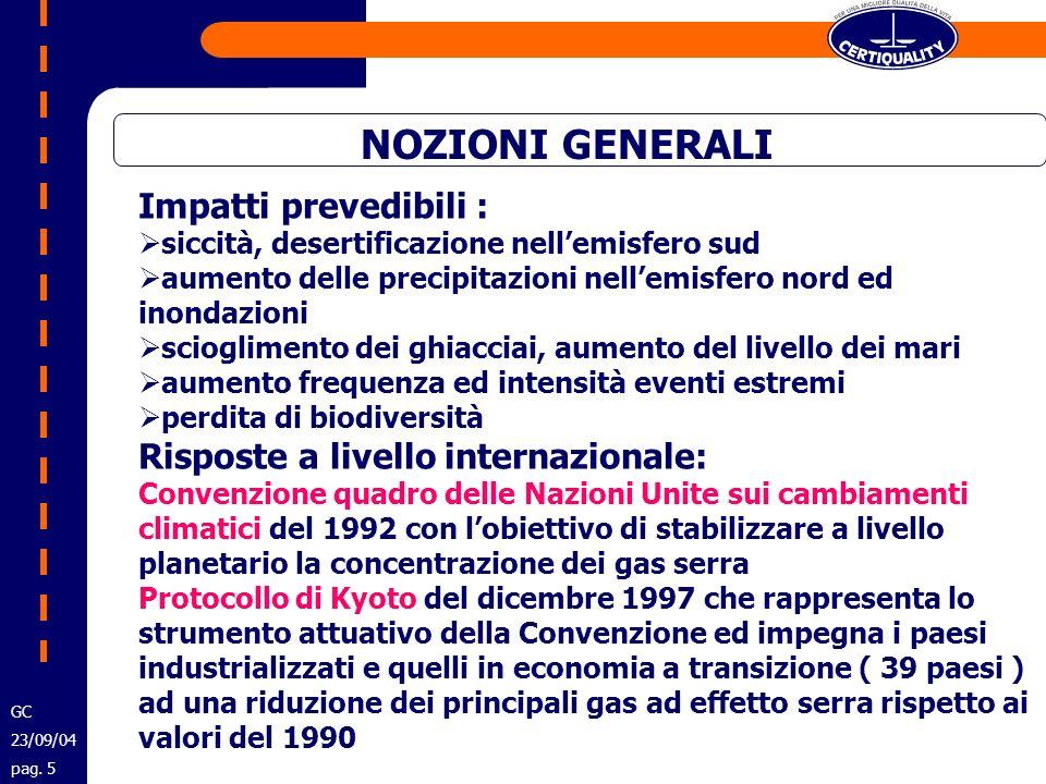 INDICAZIONI OPERATIVE PER GLI ISPETTORI GC 23/09/04 pag.