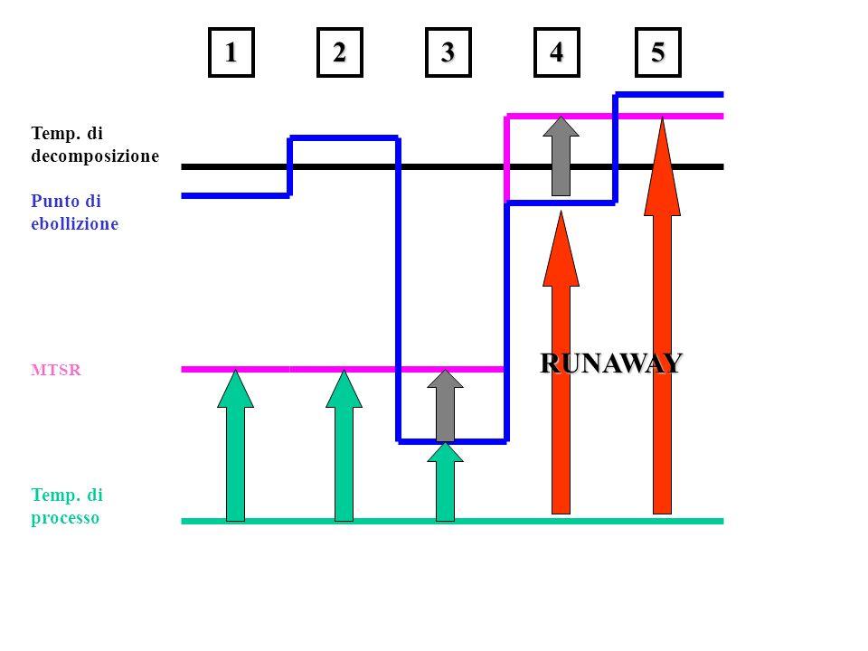 14235 Temp. di processo MTSR Punto di ebollizione Temp. di decomposizione RUNAWAY