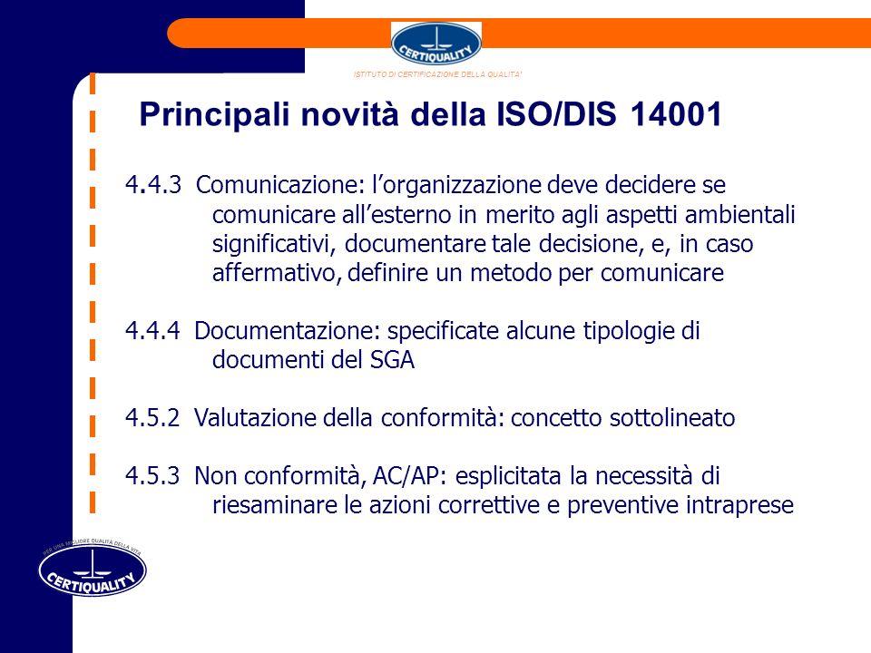 ISTITUTO DI CERTIFICAZIONE DELLA QUALITA 4.