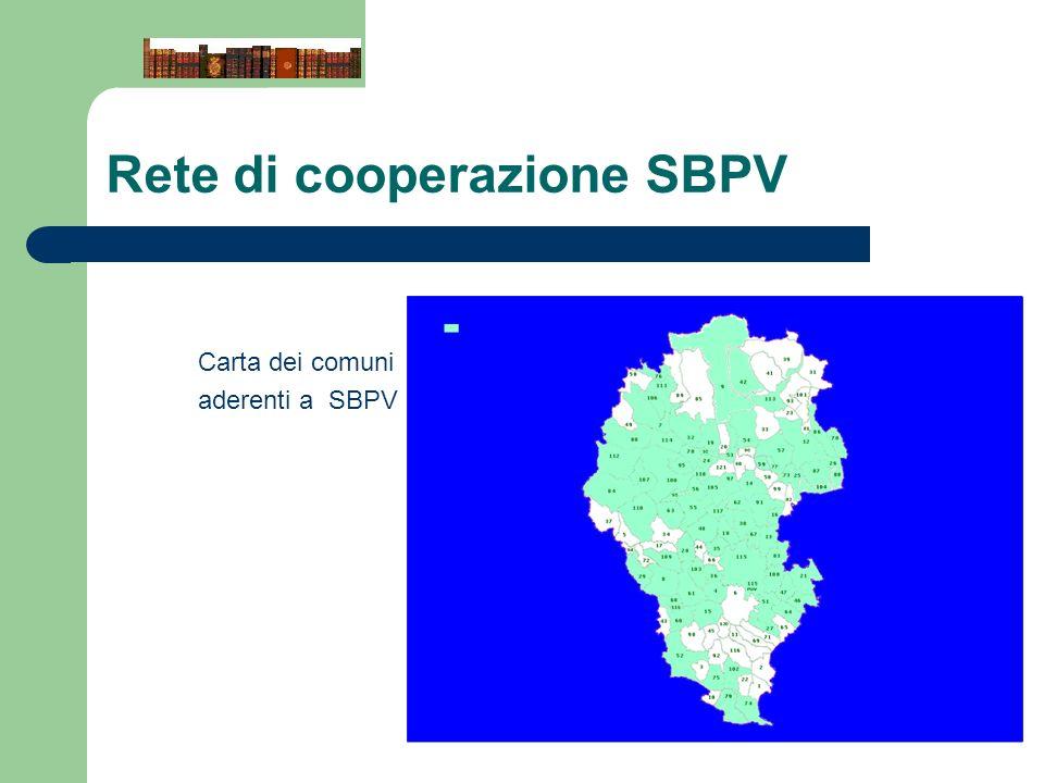 Rete di cooperazione SBPV Carta dei comuni aderenti a SBPV